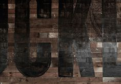 End of work #type #paint #woodgrain #typography