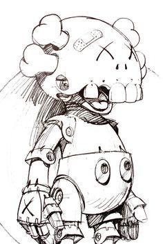 CVNYON #robot #humanoid #drawing #illustration #pencil