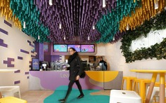Tealive Bubble Tea Shop with a Striking Ceiling Installation 5