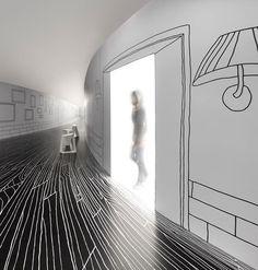 environmental graphic #white #black #floor #environmental #graphics
