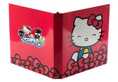 2 Pocket Reinforced 3 Ring Binder for Sanrio (Hello Kitty)