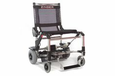 The world's lightest folding #wheelchair, the Zinger Chair collapses with a simple tug of a cord, and has users spinning about with extreme