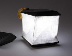 Soul Cell is an elegant folding solar lamp, perfect for illuminating in the dark on a hike or picnic.