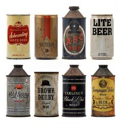 vintage beer packaging