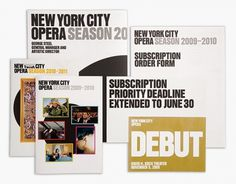 2 × 4: Project: New York City Opera #print #branding
