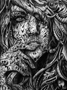 Black and White Digital Illustrations by René Campbell