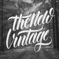 HAND TYPE – The New Vintage #inspiration #lettering #white #black #and #hand #typography