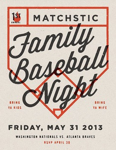 Family Baseball Night by Jonathan Lawrence