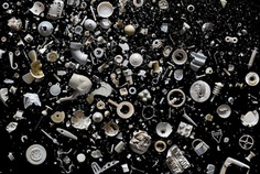 Mandy Barker Arranges Rainbows of Plastic Trash Swirling in the Ocean