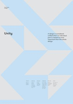 Unity – The Principles of Design poster serie by Gen Design Studio