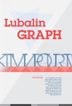 Lubalin Graph Poster #lubalin #graph #herb #typography