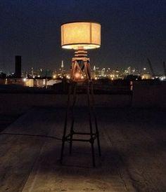 Otto Floor Lamp by Kahokia Design, Brooklyn, NY #lamp #oak #ny #design #otto #floor #wood #kahokia #nyc #york #lighting #brooklyn #new