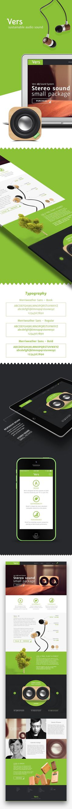 Vers Audio Website #design #web #ux #ui