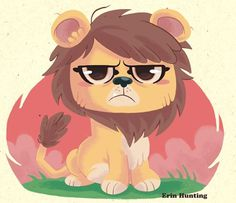 Little_leo_sig #illustration #cute #cartoon #lion #grumpy