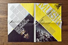 JKF Festival for youth culture – Newspaper on Editorial Design Served #type #layout #design #poster