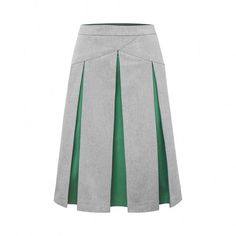 #skirt #grey #green #fashion #clothing MoMi-Ko, Polish brand
