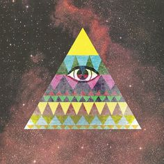 All sizes | Pyramid in Space. | Flickr - Photo Sharing! #geometry #pattern #space #eye #triangle