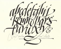 All sizes | MB alphabet | Flickr - Photo Sharing! #calligraphy #barcellona #luca #brush #typography