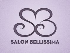 Dribbble - Logo Bellissima by Paulo Canabarro #heart #logo #bellissima #salon