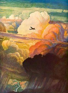 All sizes | 1938 ... N.C. Wyeth | Flickr - Photo Sharing! #illustration #plane
