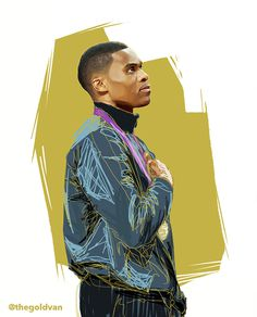 An Illustrated History of Russell Westbrook on Behance #champion #design #medal #paint #russell #illustration #art #westbrook #gold #olympics