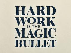 Work Hard #typography #inspiration #design #creative #hand lettering #artists #art