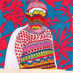 FFFFOUND! | ホテル つぶれ屋 #abstract #illustration #drake #sweater