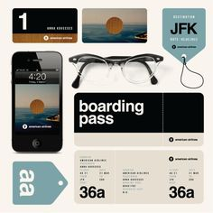 Experimental ID for American Airlines on the Behance Network #helvetica #swiss #branding