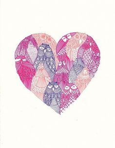coqueterías - (via misswallflower) #heart #illustration #pink