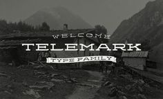 Telemark Type Family on Typography Served #telemark #typeface