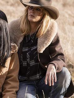 Kelly Reilly Beth Dutton Yellowstone Wool Coat
