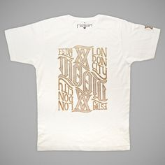 PS Gold Ambigram | T-Shirt | Victate #heritage #print #shirt #vintage #tee #typography