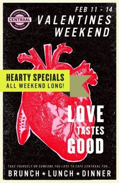 Cafe Centraal Valentines Day Poster ByRev Pop