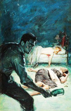 tumblr_lyo8mzw6wL1qa70eyo1_1280.jpg (1227×1920) #alfred #murder #james #portrait #pulp #vintage #painting #meese
