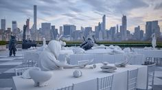 Theater of Disappearance Installation on roof of the Met in New York by Adrian Villar Rojas