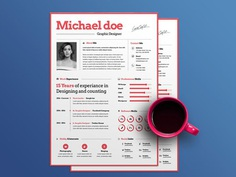 Simple Designer : Free Simple Resume Template for Designer