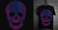 Skulledelic #clothing #design #graphic #black #shirt #threadless #tee #art #skull #sknny
