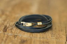 Yves Saint Laurent Mens Leather Wrap Bracelet | eBay