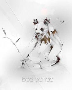 Alexis Marcou Illustrations | Fubiz™ #illustration #light #panda #gradients