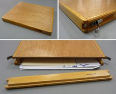 Wood Drawing Cases. Lightweight, handmade paper case designed to be an outdoor drawing board or portfolio. Made from high quality marine p #wood #case