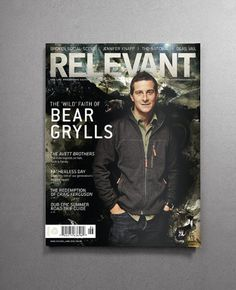 Amy Duty – Graphic Design - bear-grylls #print #cover #magazine #bear #relevant #relevant magazine #bear grylls