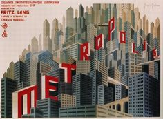 MetropolisPosterLarge.jpg 1,355×997 pixels #city #illustration #metropolis #typography