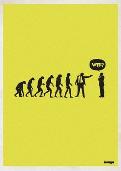 Eshark Design » Blog Archive » Supercool WTF? Series by Minga #evolution #wtf #poster