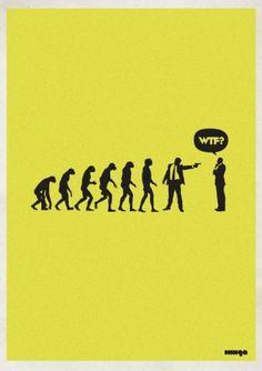 Eshark Design » Blog Archive » Supercool WTF? Series by Minga #evolution #wtf #poster