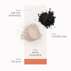 Presentation of Colours by Kommigraphics #colour #presentation #powder #arctic #pink #charcoal #typography
