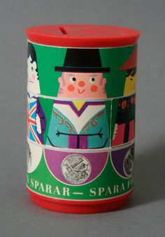 Swedish bank Money box by Kjell Westerlund #sweden #kjell #modern #westerlund #illustration #mid #vintage #century #character