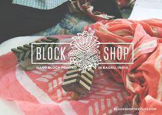 Block Shop Logo #logo design #fabric #brand #identity