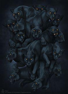 Black by Anisis #digital #illustration #art