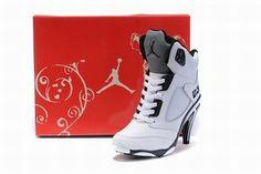 Nike Air Jordan V 5 Heels White/Black #shoes