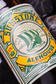 Craft Beer Label Redesign - Sunstone Alehouse on Behance